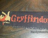 Gryffindor Cross stitched Harry Potter Bookmark