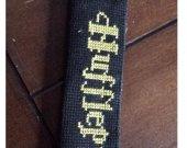 Hufflepuff Cross stitched Bookmark