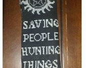 Supernatural Inspired Cross-stitch Bookmark