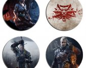 The Witcher Set Of 4 Wood Drink Coasters