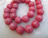 2strands 4-12mm  high quality  pink rhodochrosite gemstone round ball jewelry bead
