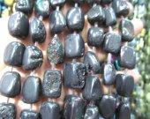 2strands 15-20mm Raw Titanium Natural Rock Quartz ,cube  brick Nugget,gold plated ,freeform black gold rainbow  mix bead