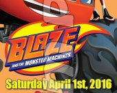BLAZE AND THE MONSTER MACHINE Ticket Style Personalized Party Invitations - Style #1