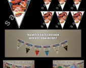 BLAZE AND THE MONSTER MACHINE Triangle Pennants Banner #1