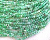 high quality 6mm full strand  Natural chrysoprase  Opal gems Round Ball  green jewelry beads