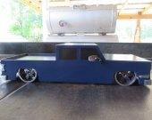 Midnight Blue Lowrider Truck
