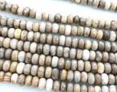 2strands 4-10mm Genuine Brown Lace Ocean Jasper stone Round rondelle abacus faceted grey coffee wood Japser  loose beads