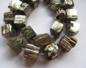 10-20mm  full strand genuine Raw pyrite  stone nuggets bead freeform iron gold box square cube faceted  pyrite loose beads