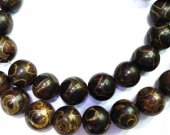 5strands 8-14mm Titanium Agate Carnerial chalcendony bead  Gem Round Ball brown green agate necklace   loose bead