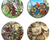 Dragon Quest Set Of 4 Wood Drink Coasters