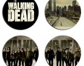 The Walking Dead Set Of 4 Wood Drink Coasters