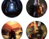 Dark Souls Set Of 4 Wood Drink Coasters