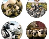 Shaun the Sheep Set Of 4 Wood Drink Coasters