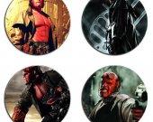 Hellboy Set Of 4 Wood Drink Coasters