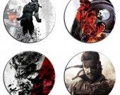 Metal Gear Solid Set Of 4 Wood Drink Coasters