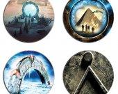 Stargate Set Of 4 Wood Drink Coasters