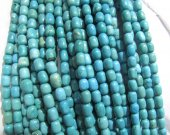 2strands 5x8 8x10mm turquoise Beads  Turquoise stone drum barrel blue blue pink red turquoise necklace stone beads