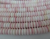 genuine Queen conch shell pink red rondelle abacus heishi wheel gemstone beads 4x6 4x10 4x12mm full strand