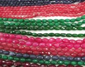5strands 4-12mm Jade bead  Rice Faceted Beads Supplies Oval Beads  mixed beads for Jewelry Making