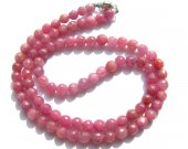 high quality Genuine Raw Ruby necklace ,sapphire blue Bead   round ball faceted jewelry suippers red necklace 4-8mm 17inch