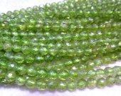 Peridot Briotettes round ball faceted peridot gemstone green gemstone 3 4 5 6 7 8mm full strand