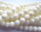 high quality Shell Jewelry 5strands 3 4 5 6 8 9 10mm MOP white shell bead   round ball brown  jewelry beads