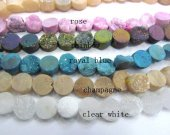 Drilled--AA Grade 8 10 12mm  full strand Genuine Duzy Drusy Agate  Round Button Rose Rainbow Blue Champagne Clear White Assortment bead