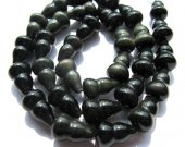 genuine Obsidian Gemstone high quality  10X18mm full strand  Bottle Caved Rainbow Cabochons jewelry beads--have drilled
