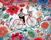 "Bead Embroidery Kit ""Bicycle"", 10x15"""