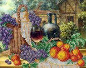 "Bead Embroidery Kit ""Still Life with Grapes"", 10x15"""