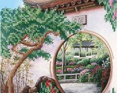 "Bead Embroidery Kit ""Japanese Garden"", 7x9,5"""