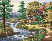 "Bead Embroidery Kit ""Autumn Breath"", 7x9,5"""