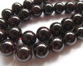 wholesale 2strands 2-12mm genuine garnet gemstoner round ball deep red Burgundy jewelry beads