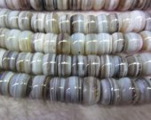 high quality natural Botswana Agate gemstone  rondelle abacus  white black jewelry beads 8x12 10x14 12x16mm full strand