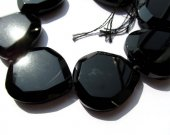 30x40mm full strand Genuine  Brazil  Agate gemstone drop  heart love drop faceted  black jet jewelry beads