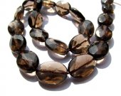 2strands 8-20mm AA GRADE genuine Topaz smoky Quartz  oval egg blue  faceted jewelry making Bead