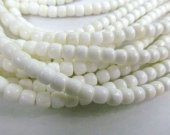 natural white shell high quality  2strands 4-10mm barrel drum loose bead