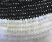 high quality  2strands 10x14mm  Agate gemstone  rondelle abacus  white black green yellow red mixed  beads