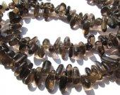 2strands 8-20mm genuine Topaz smoky Quartz freeform chips jewelry making Bead