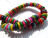 2strands 6 8 10 12 14 16mm Turquoise Heishi pinwheel Beads,green blue black pink red white purple oranger mixed loose bead