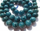 high quality 4-12mm full strand  Natural Apatite Gemstone  Round Ball  Blue Loose Bead