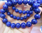 AA+ grade 6 8 10 12 14 16mm 8inch Genuine lapis lazulie  Bracelet Round Blue lapis jewelry beads