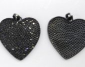 12pcs 25mm CZ Micro Pave Diamond Cubic Zirconia round heart black jet  Healing Hand sharp spikes triangle coin  Charms Pendants
