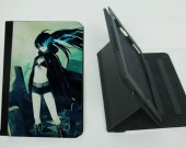 Black Rock Shooter Ipad Mini 1 /2 / 3 Protective Fold Leather Smart Cover case