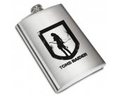 Tomb Raider  Liquor Stainless Steel Flask - 8 oz