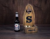 Bottle Opener, Personalized Bottle Cap Catcher, Personalized gift, Beer opener, Christmas, Groomsman gift, Gift for Dad