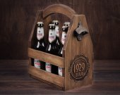 Wooden 6 pack Beer Caddy, Beer Holder, Beer Carrier, Beer Tote, Men's gift, Bottle opener, Six Pack Carrier, Soda caddy
