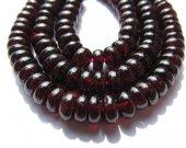Genuine garnet gemstoner round  rondelle wheel crimsone red Burgundy jewelry beads 4x6 5x8mm full strand