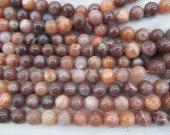 golden sunstone beads  6-14mm full strand  Natural moonstone gems Round Ball  sunstone gemstone loose bead