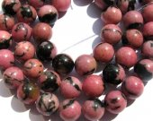 wholesale 5strands 4-12mm Natural Pink rhodonite  gemstone round ball jewelry loose bead